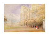 Wells Cathedral Giclee Print by Albert Goodwin