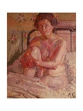 Nude on a Bed Giclee Print by Harold Gilman