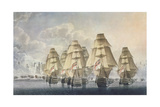 Battle of Trafalgar, Rear Division, Engraved and Published by the Artist, 1806 Giclee Print by Robert Dodd