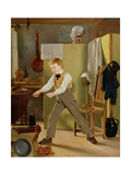 The Wigmaker's Apprentice or Practice Makes Perfect, C.1823 Giclee Print by Thomas Sword Good