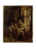 Don Quixote in His Study Giclee Print by Richard Parkes Bonington