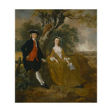 An Unknown Couple in a Landscape Giclee Print by Thomas Gainsborough