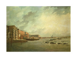The Procession of Barges Attending Lord Nelson's Body from Greenwich Hospital, January 8th 1806 Giclee Print by Daniel Turner