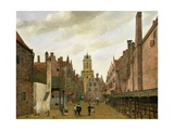 View of Boterbrug with the Tower of the Stadhuis, Delft, C.1653-59 Giclée-Druck von Jan Van Der Heyden