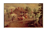 Coach Coming around the Bend Giclee Print by Edward Lamson Henry