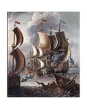 Seapiece Giclee Print by Leonardo Antonio de Castro