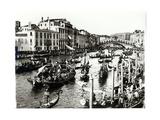 View of the Regatta and the Rialto Bridge from the Fondamento Del Vino Giclee Print