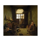 Atelier De David, 1814 Giclee Print by Leon Mathieu Cochereau
