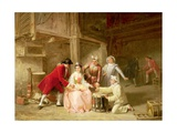 Group of Musician Actors Gambling Giclee Print by Adolphe Francois Monfallet
