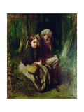 Little Nell and Her Grandfather in the Wood Giclee Print by Sir William Quiller Orchardson