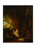 The Carpenter's Shop, 1640 Giclee Print by  Rembrandt van Rijn