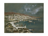 The Harbour of Split, Croatia Giclee Print by Hercules Brabazon Brabazon