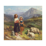 On the Welsh Hills Giclee Print by George Earl