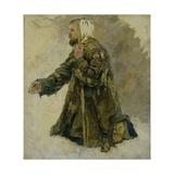 God's Fool on His Knees Giclee Print by Vasilii Ivanovich Surikov