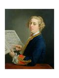 Portrait of Francesco Geminiani (1687-1762), Italian Violinist Giclee Print by Andrea Soldi