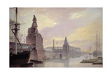 The Neva Embankment by the Academy of Art, 1835 Giclee Print by Maksim Nikiforovich Vorobiev