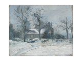 Piette's House at Montfoucault, Snow Effect, 1874 Giclee Print by Camille Pissarro