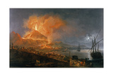 Eruption of Vesuvius in 1771 Giclee Print by Pierre Jacques Volaire