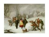 Snowballing Giclee Print by Cornelis Kimmel