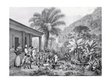T1241 Indians on a Plantation, Engraved by Victor Adam (1801-66) C.1835 Giclee Print by Johann Moritz Rugendas