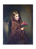 A London Flower Girl Giclee Print by Samuel Baruch Halle