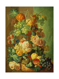 Still Life with Fruit and Flowers Giclee Print by Jan van Os