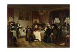 The Restaurant Giclee Print by Firs Sergeevich Zhuravlev