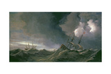 Storm at Sea Giclée-Druck von Willem van de II Velde