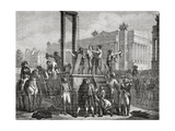 The Execution of Robespierre and His Followers in 1794, Engraved by Jonnard Giclee Print by Henri Renaud