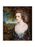 Portrait of Margaret Hazlitt, Sister of William Hazlitt Giclee Print by John Hazlitt