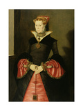 Unknown Lady from the Court of King Edward VI (Possibly Lady Jane Grey) C.1550-55 Giclee Print by Hans Eworth