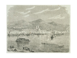 Montreal in the 1860s, Engraved by Auguste Trichon (B.1814) Giclee Print by Paul Huet