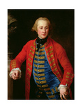 Cavalry Officer in Walking Out Dress Giclee Print by Pompeo Girolamo Batoni