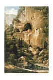Chateau of Luegg or Predjama, Near Trieste Giclee Print by Louis-Francois Cassas