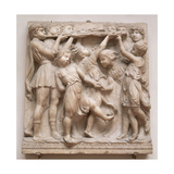 Trumpeting Angels, Relief from the Cantoria, C.1432-38 Giclee Print by Luca Della Robbia