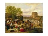 An Italian Market Scene Giclee Print by Adam Topffer