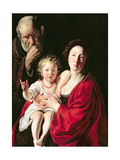 Holy Family Giclee Print by Jacob Jordaens