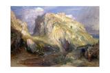 Tintagel Castle, Approaching Rain, 19th Century Impression giclée par Samuel Palmer
