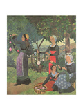 The Garland of Roses, C.1898 Giclee Print by Paul Serusier
