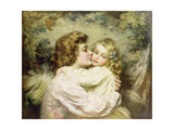 Mother and Daughter Giclee Print by Thomas Benjamin Kennington