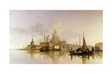 Venice with the Dogana and the Church of S. Maria Giclee Print by William James Muller