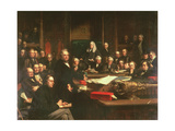 Lord Palmerston Addressing the House of Commons During the Debates on the Treaty of France in… Giclee Print by John Phillip