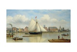 Hull from the Humber, C.1837 Giclee Print by John Ward