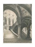 The Staircase of the Paris Opera House Giclee Print by Charles Garnier