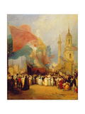 The Royal Procession at the Opening of London Bridge, 1831 Giclee Print by George Jones