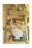 St. Benedict Finds Flour and Feeds the Monks, from the Life of St. Benedict, 1497-98 Giclee Print by  L. Signorelli and G. Sodoma