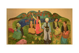 The Pont Aven Triptych, 1892-93 Giclee Print by Paul Serusier