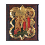 St. Francis before the Bishop Giclee Print by Taddeo Gaddi