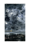 The Town Giclee Print by August Johan Strindberg