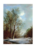 Snow Scene Giclee Print by Alexis De Leeuw